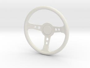 Scale steering wheel in White Natural Versatile Plastic