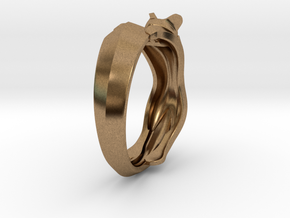 Cat Ring in Natural Brass: 6 / 51.5