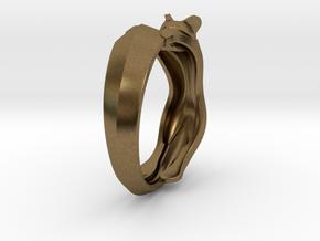 Cat Ring in Natural Bronze: 6 / 51.5