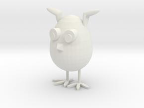 Bunny's Egg in White Premium Versatile Plastic