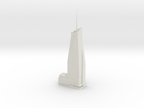 Bank of America Tower (1:2000) in White Natural Versatile Plastic
