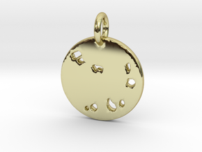 Cape Verde Pendant in 18k Gold Plated Brass