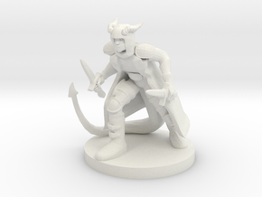 Tiefling Rogue in White Strong & Flexible