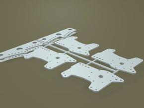 1/8 11 Inch  Rearend 4 Bar Link Plates in White Natural Versatile Plastic
