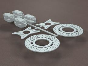 1/8 11 Inch Rearend Quad Brake Kit in White Strong & Flexible