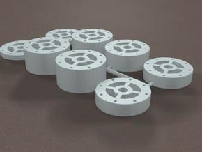 1/8 11 Inch Rearend Tube Spacer Kit in White Strong & Flexible