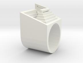 Carlo Scarpa Ziggurat ring in White Natural Versatile Plastic: 1.5 / 40.5