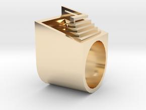 Carlo Scarpa Ziggurat ring in 14k Gold Plated Brass: 1.5 / 40.5