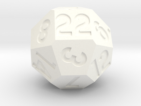 d22 with 4-fold rotational symmetry in White Processed Versatile Plastic