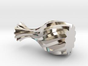 Spiral Vase in Rhodium Plated Brass