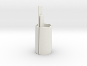 Front BB core, top (1) in White Natural Versatile Plastic