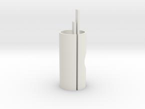 Head to top tube core, 47.9-38.5 in White Natural Versatile Plastic