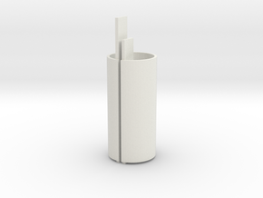EC44 Head Tube Core in White Natural Versatile Plastic