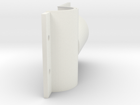 BB shell-front 3 in White Natural Versatile Plastic