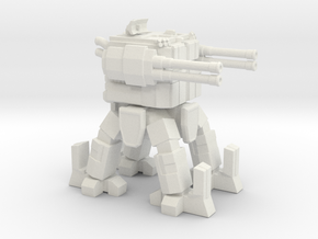 ICE Mech Gunner in White Natural Versatile Plastic