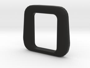 """X31 """"Rubber"""" Vestibule for Öresundståg in Black Natural Versatile Plastic"""