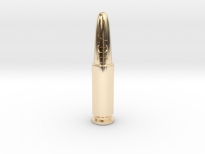 007 Bullet in 14k Gold Plated Brass