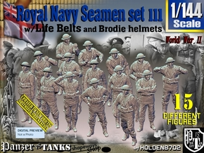 1/144 Royal Navy Seamen Set111 in Smooth Fine Detail Plastic