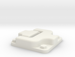 Door hinge for Traxxas TRX-4 body in White Natural Versatile Plastic