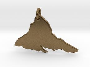 Matterhorn Necklace in Natural Bronze