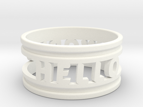 Create Your Own Ring! in White Processed Versatile Plastic: 4 / 46.5