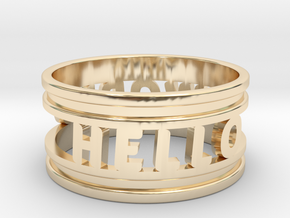 Create Your Own Ring! in 14k Gold Plated Brass: 4 / 46.5