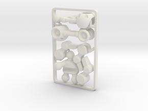 Mechanoid BioBorg Gripper Arm (Right) for ModiBot in White Natural Versatile Plastic