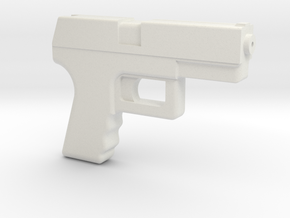 Handgun in White Natural Versatile Plastic