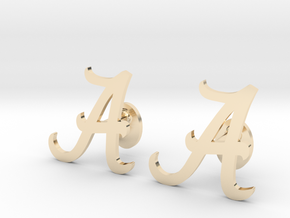 Alabama Cufflinks, Customizable in 14K Yellow Gold
