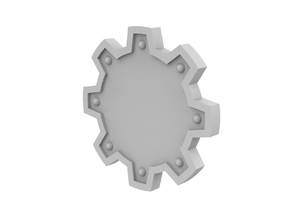 Cog shield - Plain in Smoothest Fine Detail Plastic