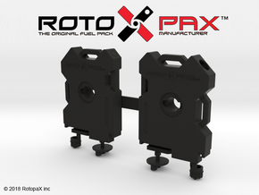 TR10018 TRX-4 RotopaX door mount BLACK in Black Natural Versatile Plastic