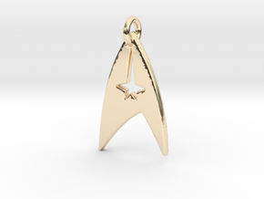 Star Trek - Starfleet Command (Pendant) in 14k Gold Plated Brass
