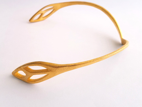 FLOS Choker in Polished Gold Steel: Small