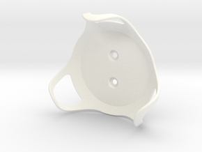 Google Home Mini - Wall Mount in White Strong & Flexible Polished