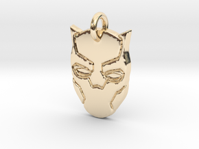 Marvel - Black Panther Pendant in 14k Gold Plated Brass