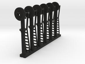 Signal Searchlight (x06) - N 160:1 Scale in Black Natural Versatile Plastic