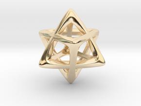 Star Tetrahedron (Merkaba)  in 14K Yellow Gold
