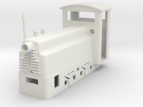BND30 mining loco  in White Natural Versatile Plastic: 1:35