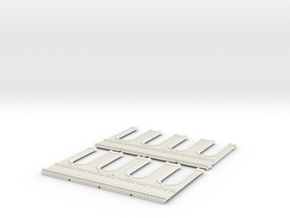 HOGG-Mext01 - Large modular train station in White Natural Versatile Plastic
