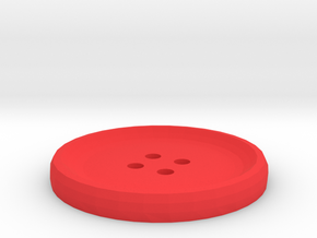 Customizable 1.5in Button in Red Strong & Flexible Polished
