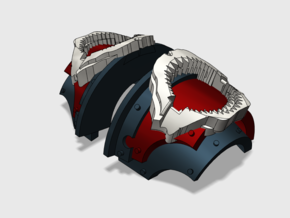 5x Shark Jaws = Cataphractii Shoulder Sets in Frosted Ultra Detail