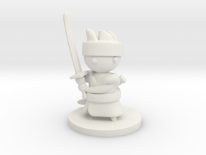 Samurai in White Natural Versatile Plastic
