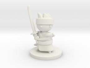 Samurai in White Premium Versatile Plastic