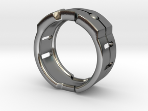 Power icon Ring in Polished Silver: 8 / 56.75