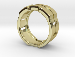 Power icon Ring in 18k Gold Plated Brass: 8 / 56.75