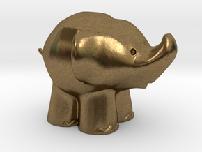 Cute Elephant in Natural Bronze: Extra Small