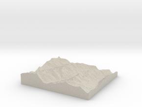 Model of Melignon in Natural Sandstone