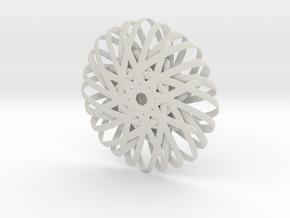 Ribbon Rosette in White Natural Versatile Plastic
