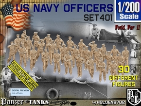 1/200 USN Officers Set401 in Smoothest Fine Detail Plastic