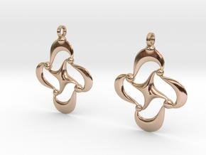 PO Earrings in 14k Rose Gold Plated Brass